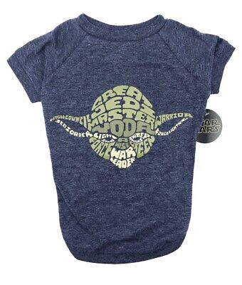 NEW WITH TAGS Fetch for Pets Star Wars Yoda Wisdom Dog Tee, Blue, X-Large *NEW*