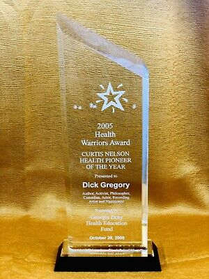 Health Warriors Award Presented to Dick Gregory - 2005 - Acrylic