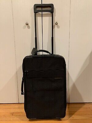 "Briggs and Riley Travelware 22"" Rolling Cabin Luggage Bag Two Wheeled Black"