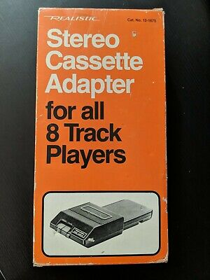 Vintage Realistic Stereo Cassette Adapter for 8 Track Players D2