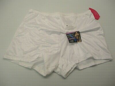 new VASSARETTE Women's Size XL Light Control White Satin Boyshort Shaper Panty