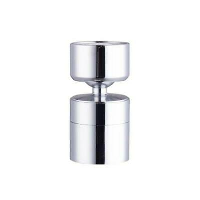Kitchen Sink Aerator Solid Brass Big Angle Swivel Faucet 2Function Chrome 1.8GPM