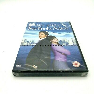 Two Weeks Notice DVD New/Sealed Hugh Grant Sandra Bullock