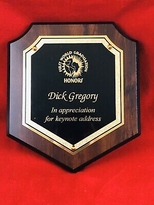 First World Graduation Award Presented to Dick Gregory