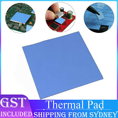 100pcs  10x10x1mm Thermal Pad GPU CPU Heatsink Cooling Conductive Silicone Pads