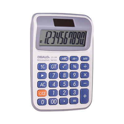 OSALO Portable Small Desktop Electronic Calculator Counter with 10-Digits G3U8
