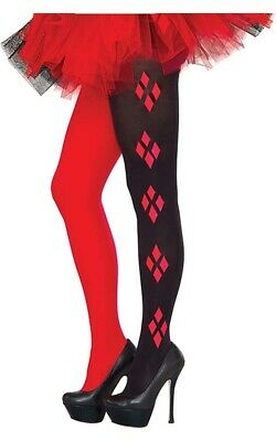 Licensed Adult Womens Harley Quinn Logo Tights Stockings Costume Accessory
