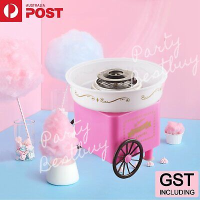 Floss Machine Sweet Pink Electric Home Cotton Candy Fairy Retro Cart Sugar Party