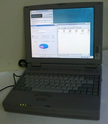 Vintage Laptop Toshiba Satellite 300CDS pentium, CD, Floppy with adapter