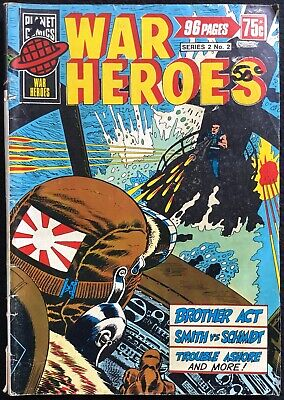 WAR HEROES - 2, Undated, Vintage, B&W, 96 pages, Planet Comics, Australia, VG+