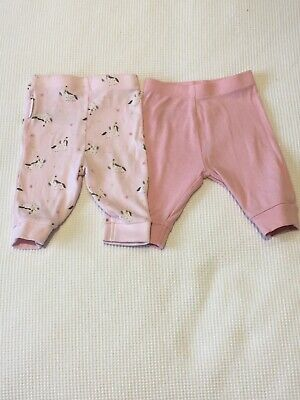 Mothercare One Month Leggings (Pink And Unicorns)