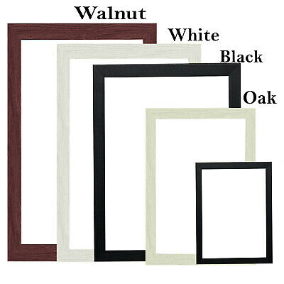 All Sizes A3 A4 Wood Color Photo Picture Frames Black White Walnut Modern Range