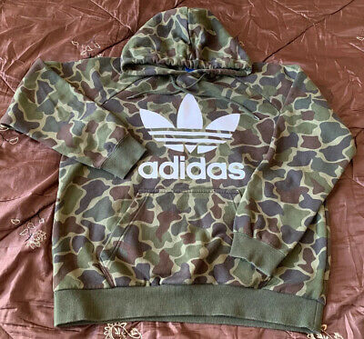 Men's Adidas OTH Camouflage Hoody/jacket Size UK L. 46in Chest. (P22)