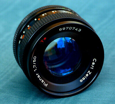 Carl Zeiss Planar CY 50mm F1.7 Contax Yashica Fast Prime Lens