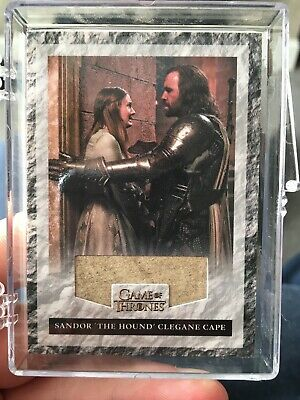 """Game of Thrones Season 3 - R2 """"The Hound's Cape"""" Relic Card #234/325"""