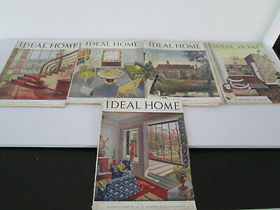 5 x VINTAGE IDEAL HOME MAGAZINES 1946 1949 & 1951 GREAT VINTAGE ADVERTS ARTICLES