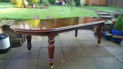 Dining Table Victorian  Large Extending Mahogany   Wind Out D End