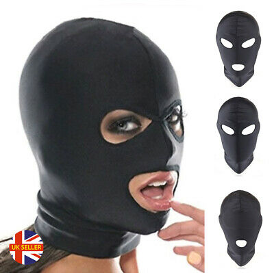 Adult Bondage Black Fetish Bike BMX Stretchy Madam Sex Spandex Ski Hood Mask
