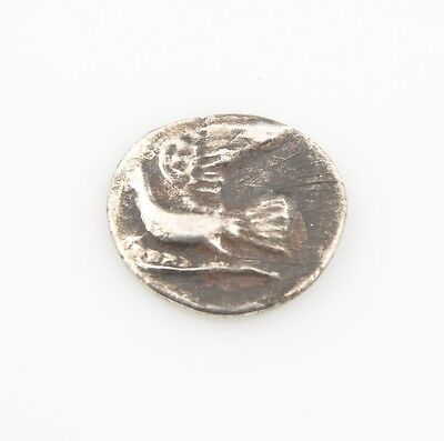 Pre-146 BC Ancient Greek AR Hemidrachm Silver Coin VF+ Sikyon Dove Σ S#2777
