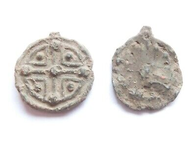 Ancient Lead SEALS 2 pieces - found on the Balkans