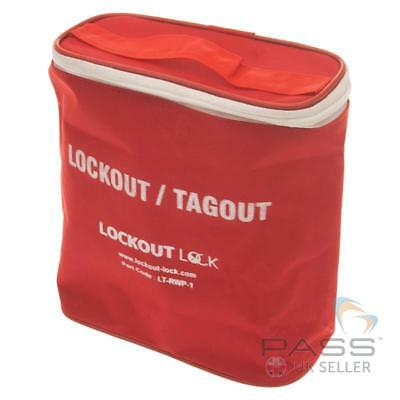 LOTO Large Red and White Lockout Tagout Pouch