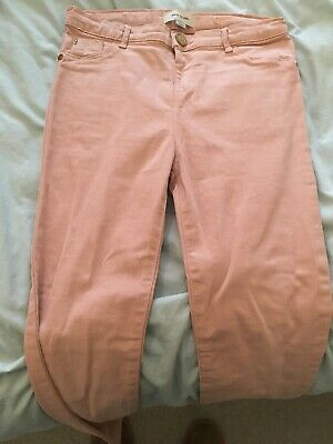 Girls Pale Pink Molly Jeans-river Island-age 11