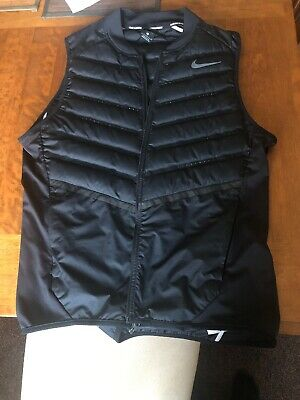Nike Aeroloft Running Gilet Vest Black Size Large Breathable Perfect Condition