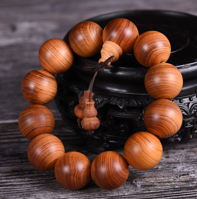 Chinese Hand Chain Natural Cedar Wood HandGrinding Buddha Beads Pretty Bracelet