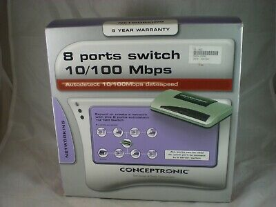 Conceptronic Fast Ethernet Switch, 8-Port, 10/100Mbps