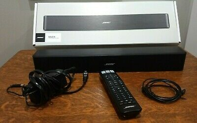 Bose Solo 5 TV Sound System - Bluetooth + Remote Manuals Cords Box Used 1 Month