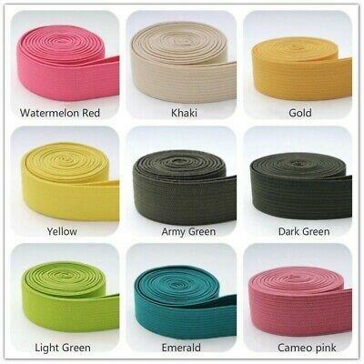 2cm Multicolor Stretch Flat Elastic Waist Band Woven Sewing Trouser Dressmaking