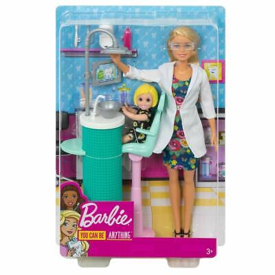 Barbie Dentist Doll,Blonde and Playset with Patient Small Doll, Sink,Chair