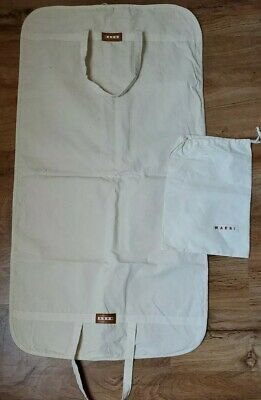 """MARNI ivory cotton garment bag/suit cover/travel bag and Dust Bag 45.5"""" x 23"""""""