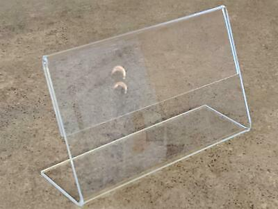 """Lot of 10 Acrylic Display Ad Sign Holder, Slanted Stand Frames R2-0503 5""""x3.3"""""""