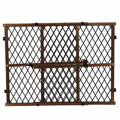 Evenflo Position and Lock Farmhouse Pressure Mount Gate - Dark Wood