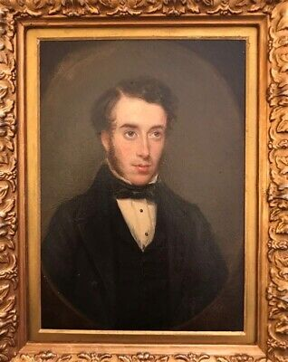 Antique Oil On Board - Portrait Of A Gentleman 18th/19th Century