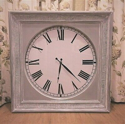 Extra Large French Shabby Chic Painted Wall Clock .. Stunning on Feature wall