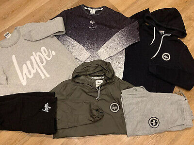 HYPE Mens Boys Jumpers, Jacket, Hoodie, Shorts Bundle XS SMALL 6 Items