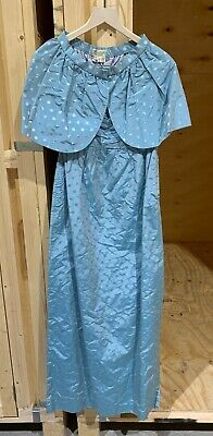 Bellville Sassoon:  1980's Blue spotted evening dress and bolero in silk.  uk12