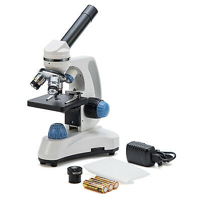 SWIFT 40X-1000X Student Biology Science Compound Microscope w/ 66 Experiment Kit