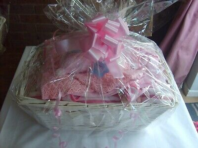 An Excellent Large Baby Gift Basket in Pink