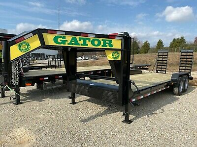 2020  Gooseneck / Equipment HAULER, Low profile with stand up ramps