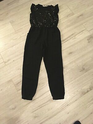 Hm Girls Party Jumpsuit Age 8/9 Years Black