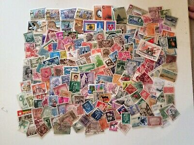 Small Collection of 200 World Postage Stamps, All Different, Used.