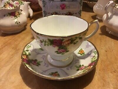 Royal Albert Old Country Roses - Rose Cameo Violet Cup & Saucer