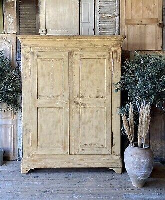 Provincial late 18c French Original Paint Cupboard