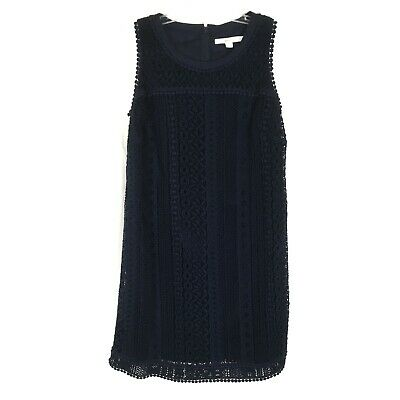 Boden Navy Blue Lace Shift Mini Dress Party Evening Wedding Womens Size 4