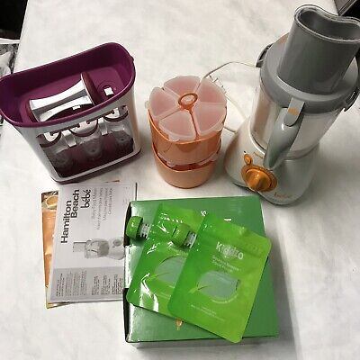 Lot Of Baby Food Making Set Up Hamilton Beach Bebe Resuable Pouches Infantino