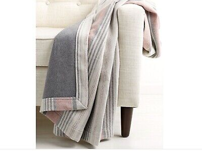 High Quality Peacock Alley 2-sided Blanket Flannel Striped 83x86