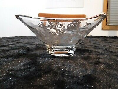 Vintage Silver City Sterling Overlay Square Candy/Nut Dish